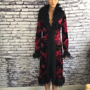 Betsy Johnson Faux Fur Coat